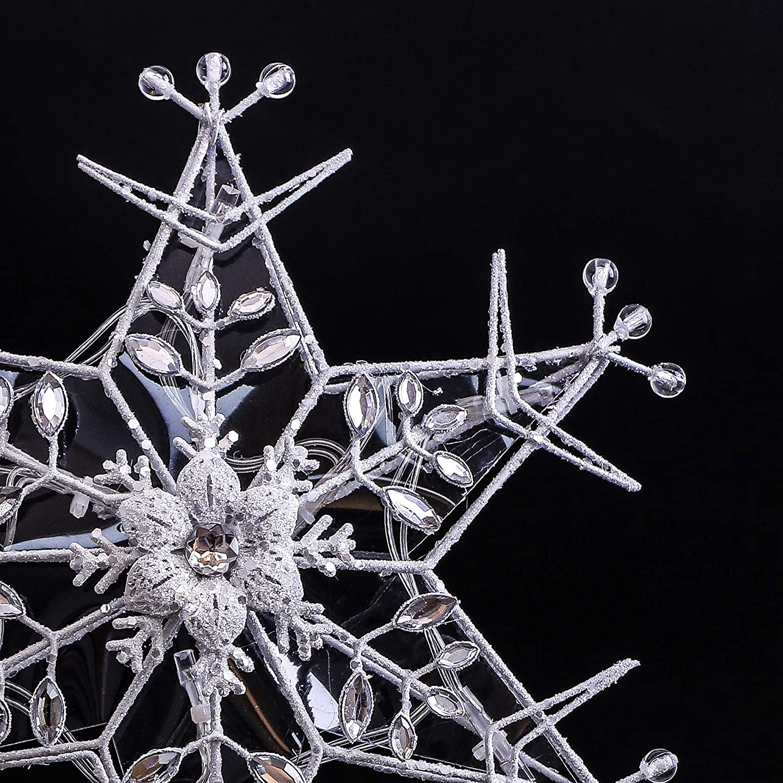 Amazon Valery Madelyn 30 5cm Metall Plastik Weihnachtsbaumspitze