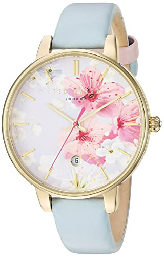 6d0a5eb3affaa7 Ted Baker Women s Analogue Japanese-Quartz Watch with Leather Strap  10031546  Amazon.co.uk  Watches