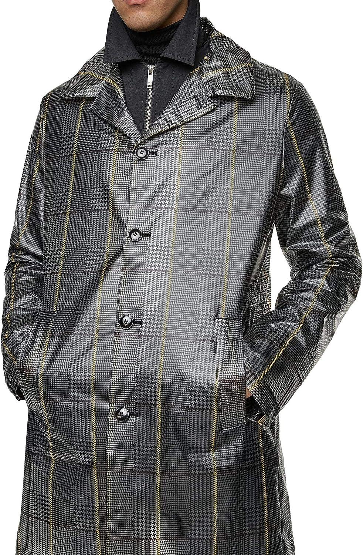 Zara 5507/650 - Abrigo para Hombre, diseño de Cuadros ...