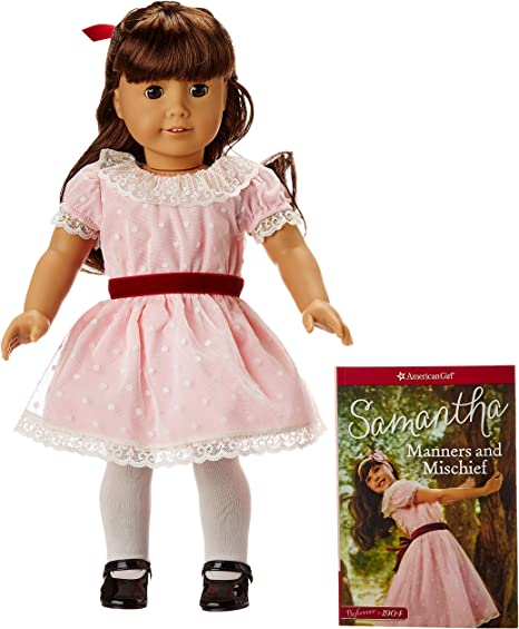 """American Girl Samantha 18"""" Doll Beforever Meet Outfit Black Shoes ONLY"""