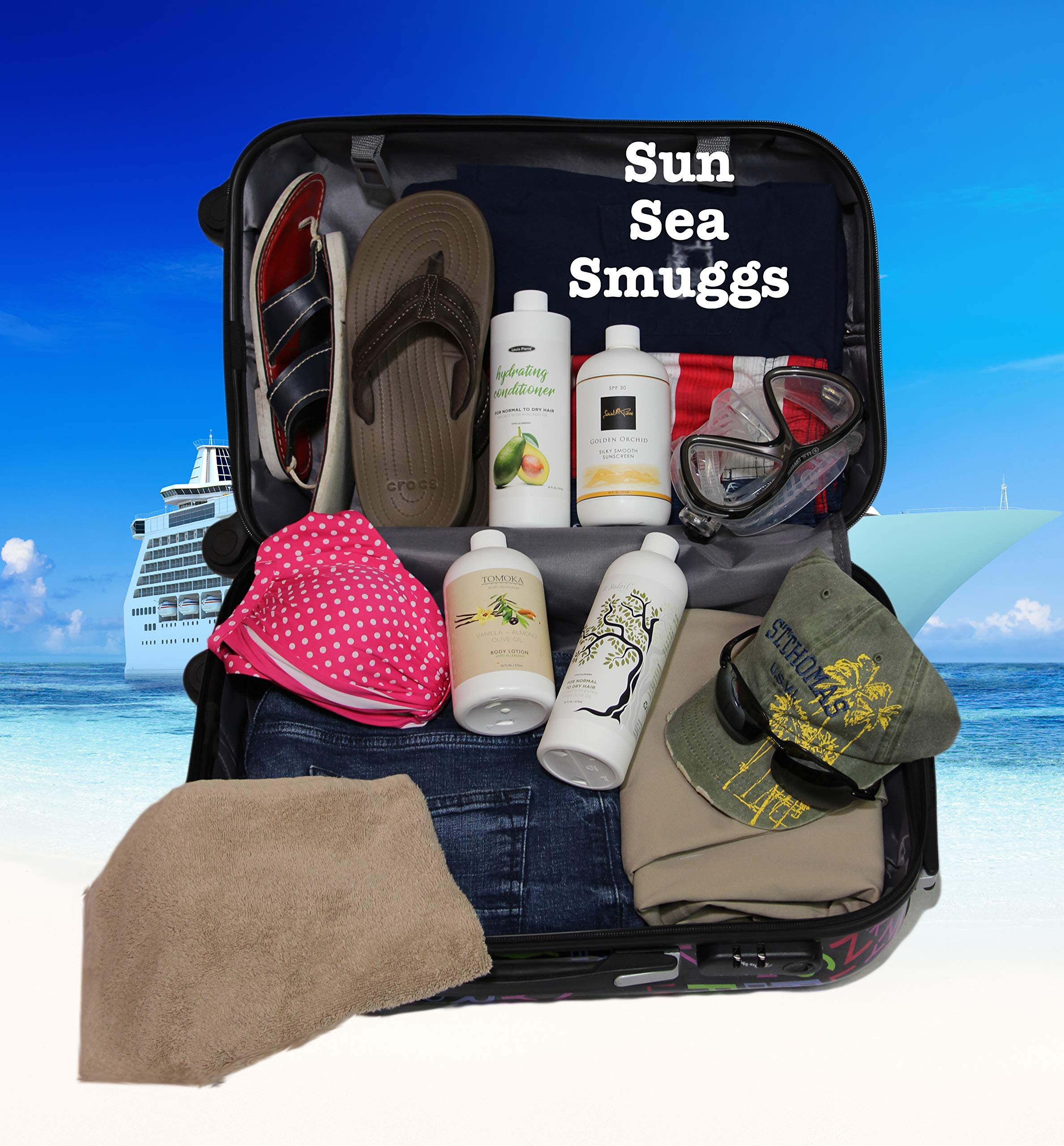 Smuggs Jugs Four Bottle Flask Kit (4-16oz) Smuggle Booze On Cruise Be A Rum Runner by Smuggs Jugs (Image #7)