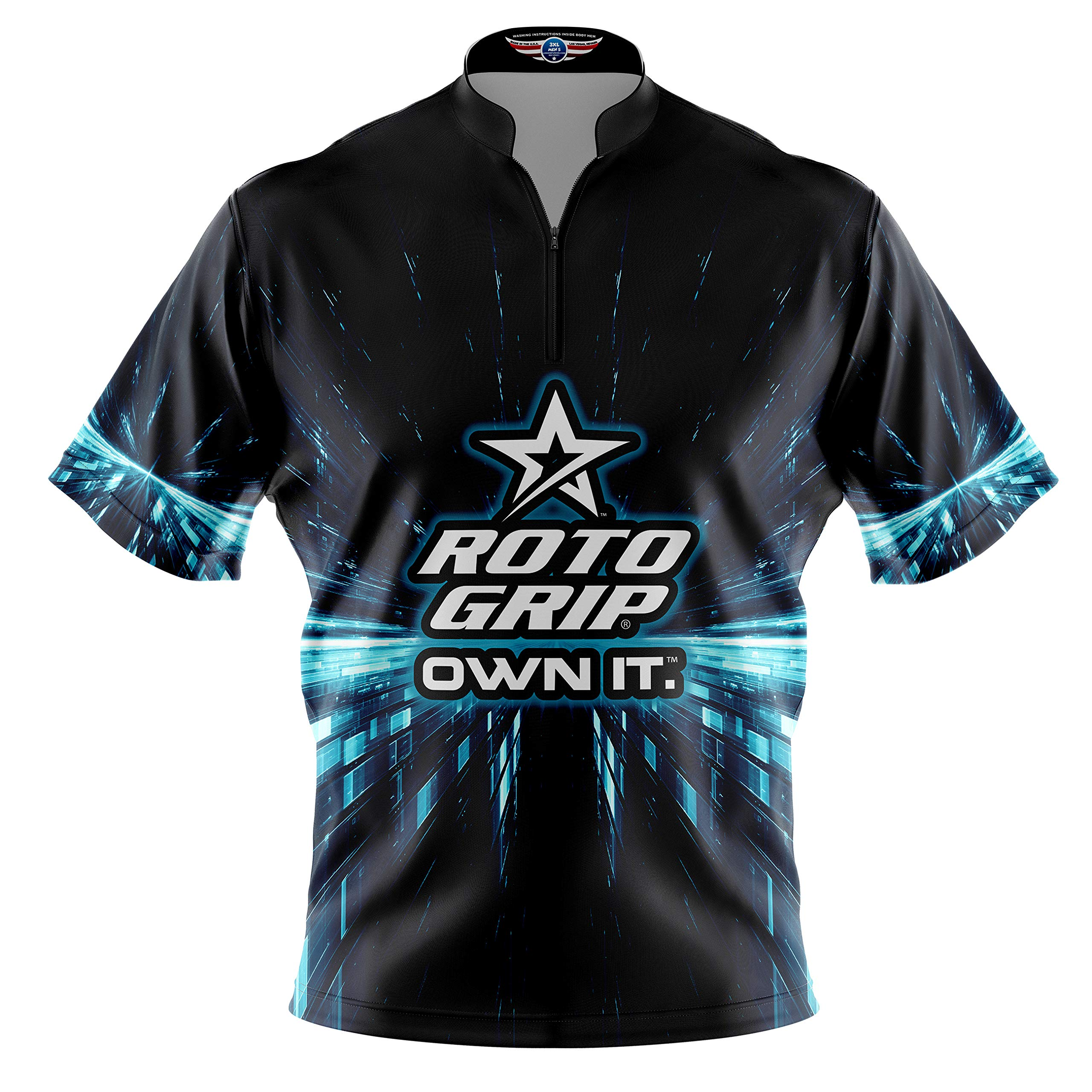 Logo Infusion Bowling Dye-Sublimated Jersey (Sash Collar) - Roto Grip Style 0360 - Sizes S-3XL (M) by Logo Infusion