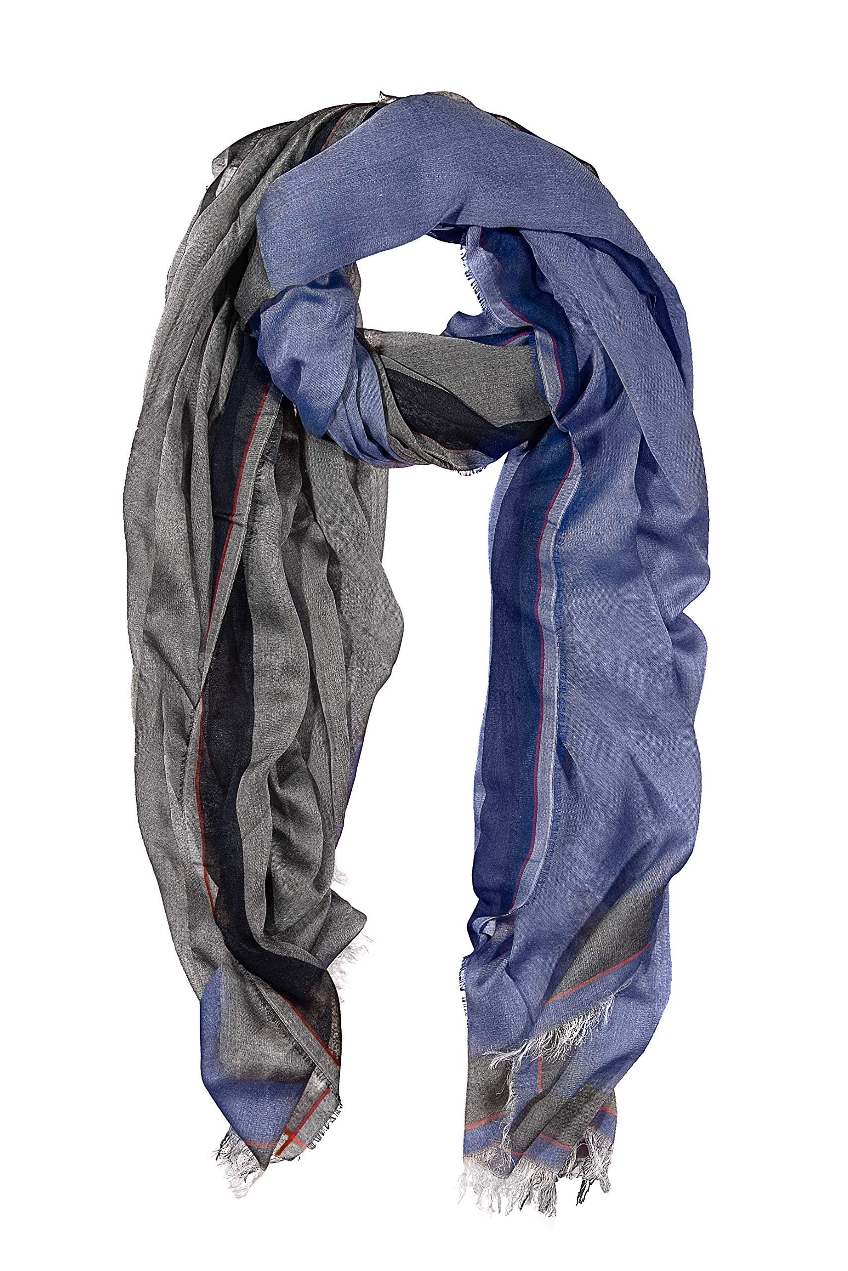 GIULIA BIONDI Scarf Shawl Stole Wrap Soft Large Long Lightweight for Women and Men MADE IN ITALY (Blue)