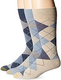 Gold Toe Men's Classic Cotton Argyle 3-Pack Sock