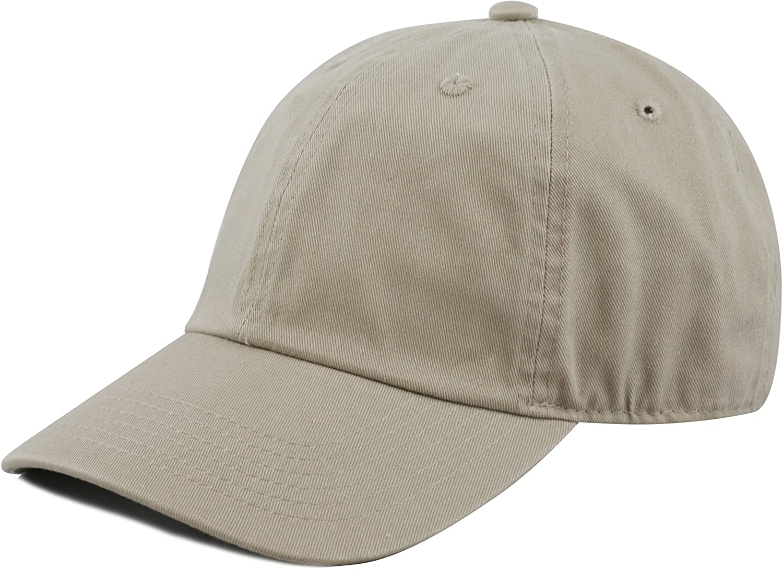 The Hat Depot Unisex Blank Washed Low Profile Cotton & Denim & Tie Dye Dad Hat Baseball Cap