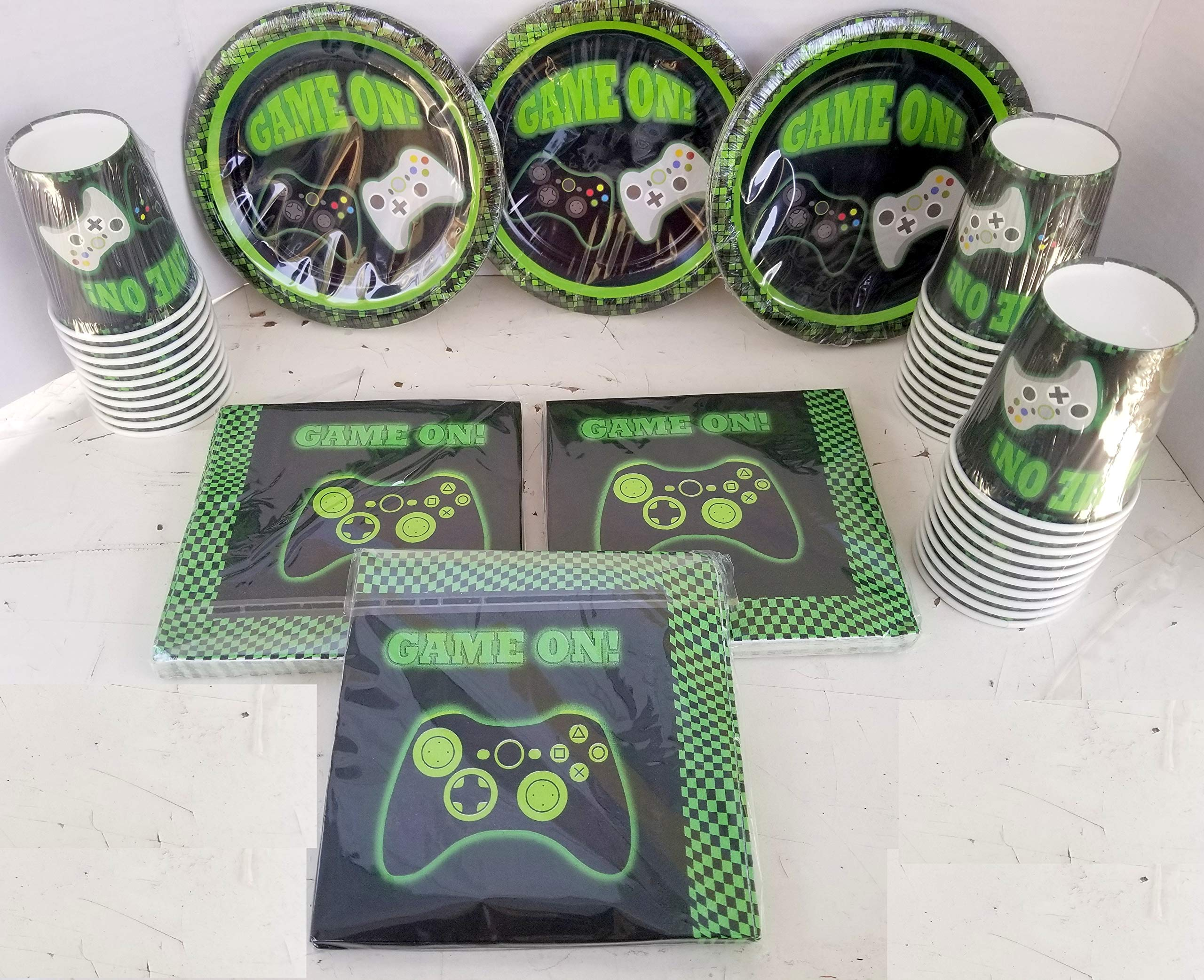 Game ON Video game Controllers Game Truck Party PLATES CUPS NAPKINS Cake Epic Decoration Birthday 90 Pieces