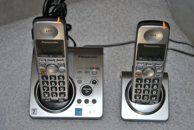 Panasonic teléfono inalámbrico DECT 6.0 plata con 1 x Terminal adicional (kx-tg1031s): Amazon.es: Electrónica