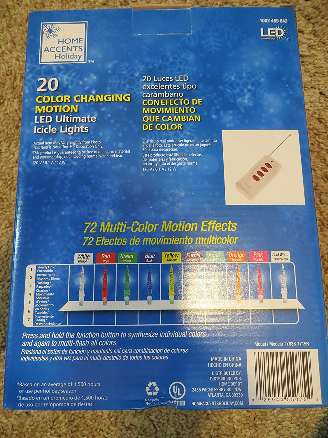 Amazon.com: 20 LED Motion Ultimate Icicle Lights - Color Changing: Musical Instruments