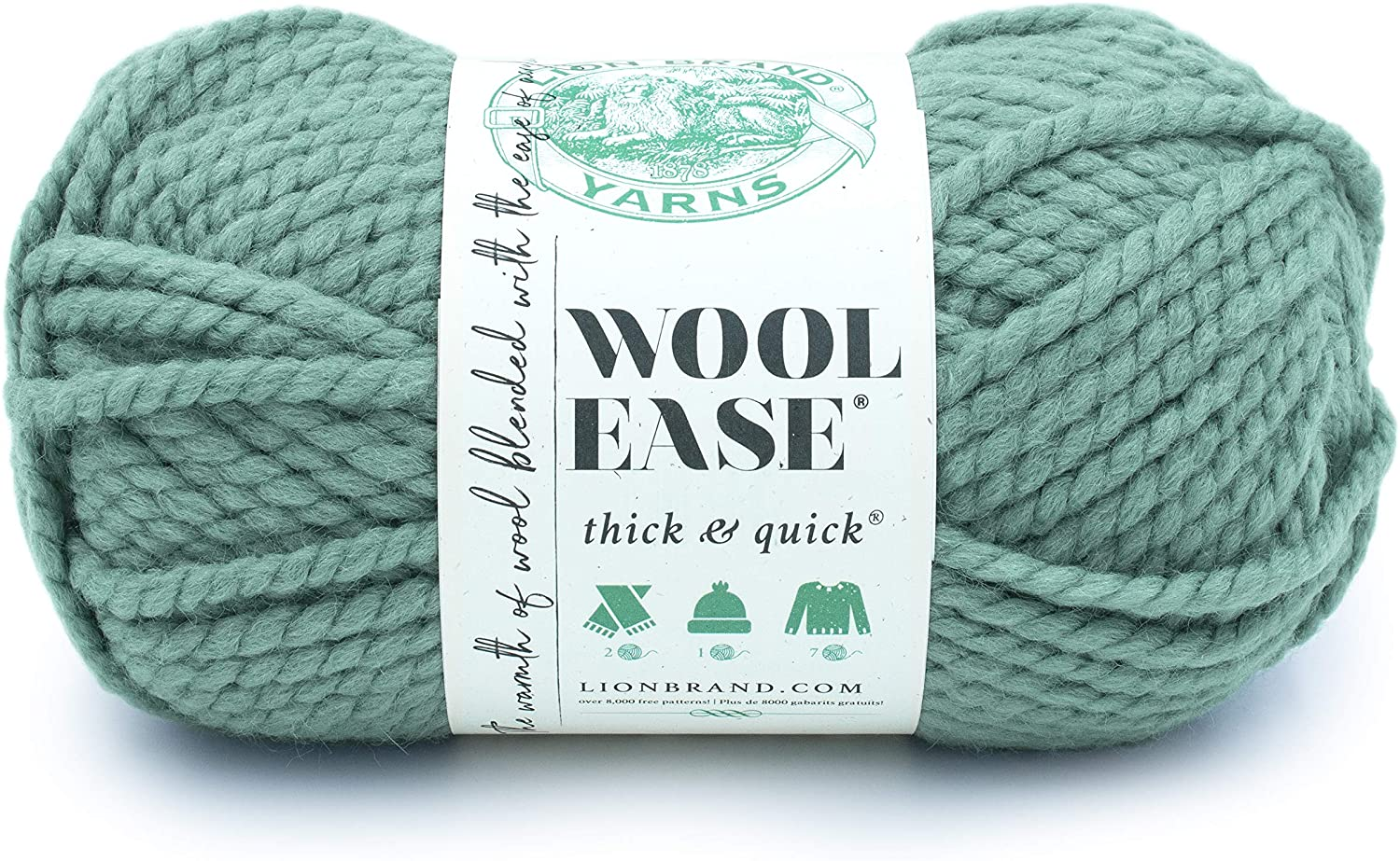 LION BRAND YARN COMPANY YARN THICK & QUICK SUCCULENT