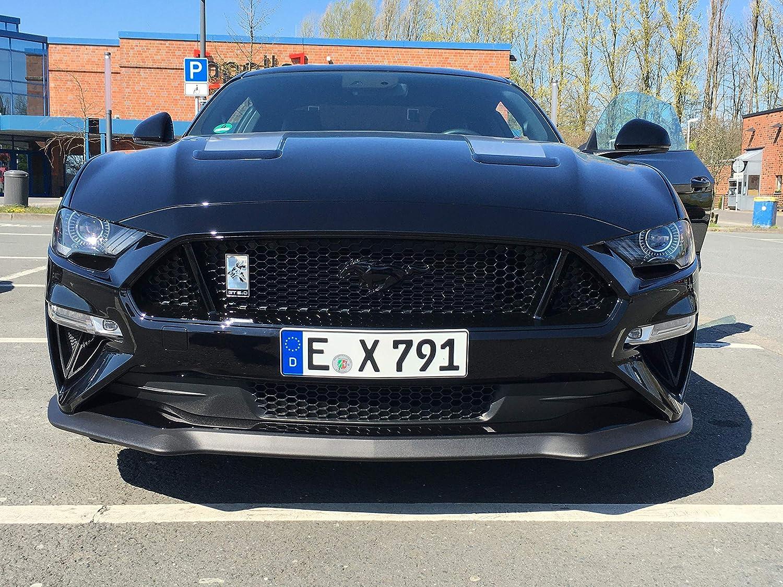 Rot 1 ST/ÜCK F/ür Mustang Coyote GT5.0 Benutzerdefinierte Metall Logo K/ühlergrill Motorhaube Abzeichen Emblem Mit Schraube