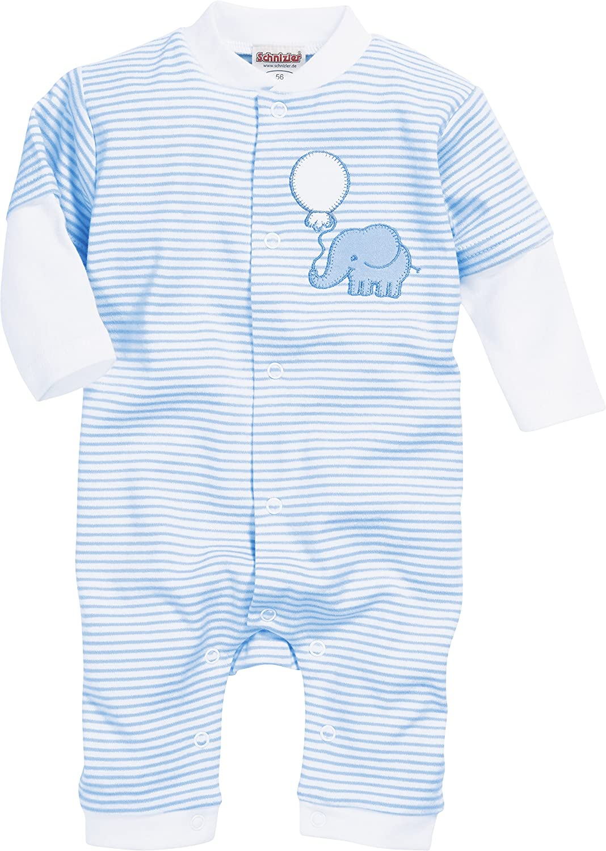 Schnizler Unisex Baby Schlafoverall Interlock Elefant Schlafstrampler