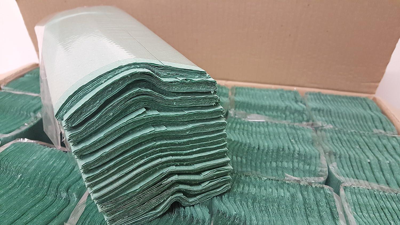 Excellent Value Bulk Green Paper Hand Towels C Fold 2560 tissues per case
