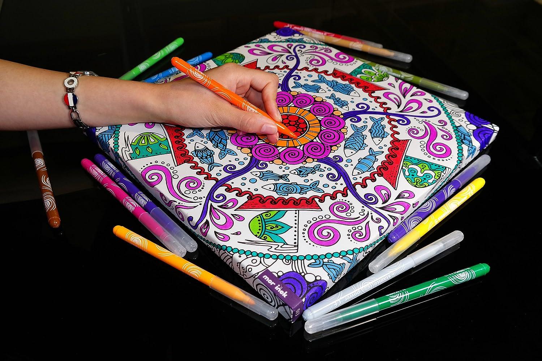 013大人用カラーリングキャンバス壁テーブル:曼荼羅デザインと応力Relievingパターンfor Angerリリース、大人Relaxation。Hand Made壁アート。 B075PVWWYB