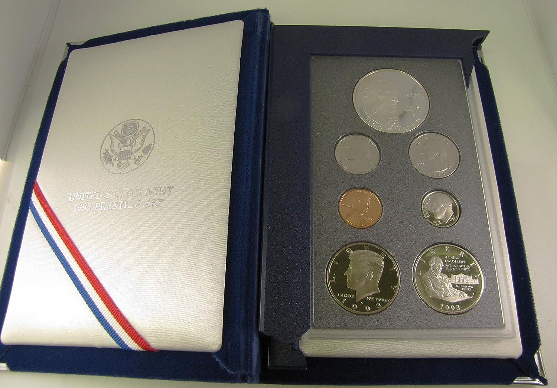 1993 Prestige Set w// Commemorative James Madison Silver $1   WITH BOX AND COA