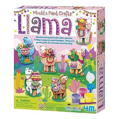 4M Mould & Paint Llama DIY Plaster Art Kit: Toys & Games [5Bkhe0305822]