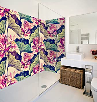 D Lotus Leaf Flowers Paint WallPaper Murals Bathroom Print Decal - Do i need special paint for bathroom