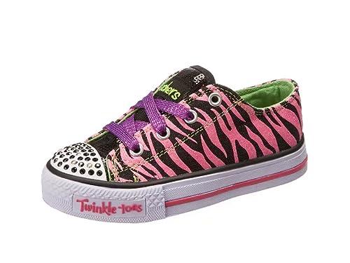 Skechers Shuffles Wild Streak - Zapatillas de lona niña, color negro, talla 31