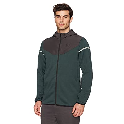 Brand - Peak Velocity Men's Axiom Full-Zip Water-Repellent Loose-Fit Jacket: Clothing