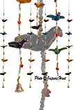Jaipuri Haat Paper Mache Hand Crafted Flying Birds Hangings in Pair (112CM)