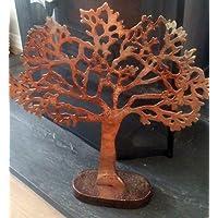 Wonderful Medium metal albero della vita scultura in rame ossidato finitura