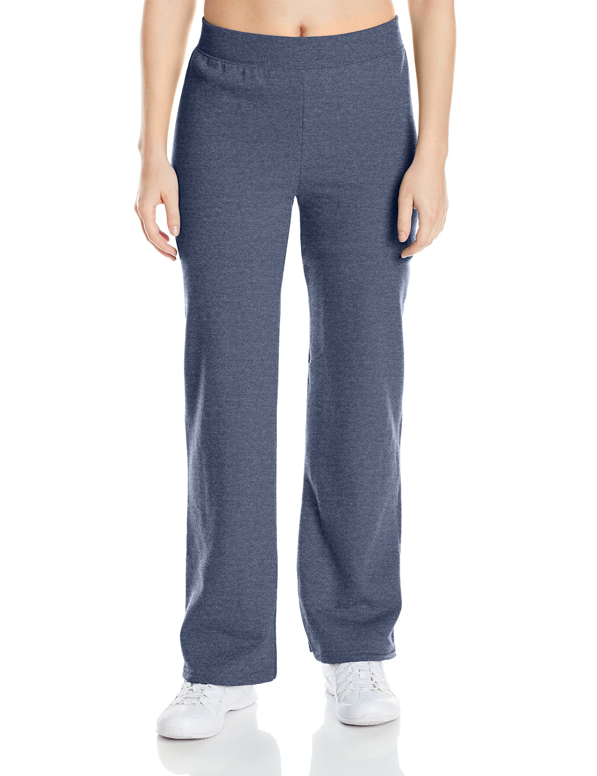 Hanes Women's Middle Rise Sweatpant, Navy Heather, Large by Hanes (Image #1)