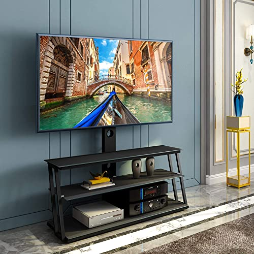 Corner Glass Swivel TV Stand
