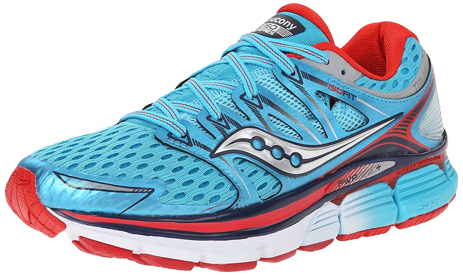 Saucony Women's Triumph ISO Running Shoe B00PIVS6KW 6.5 B(M) US|Blue/Red