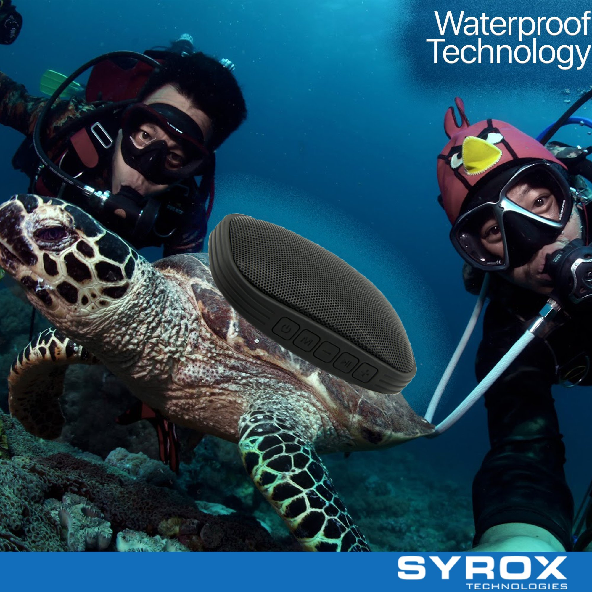Bluetooth Speaker Waterproof - Black Portable Chargable SD Card AUX FM Radio Microphone Apple Iphone 4/5/6/7/8/X Samsung Galaxy Sony Xperia Xiaomi Asus LG G4 G5 G6 Nokia HTC BlackBerry Motorola Huawei by Syrox (Image #4)