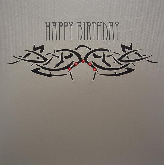 White Cotton Cards TB4 Tatuaje Kimberling de Feliz cumpleaños ...