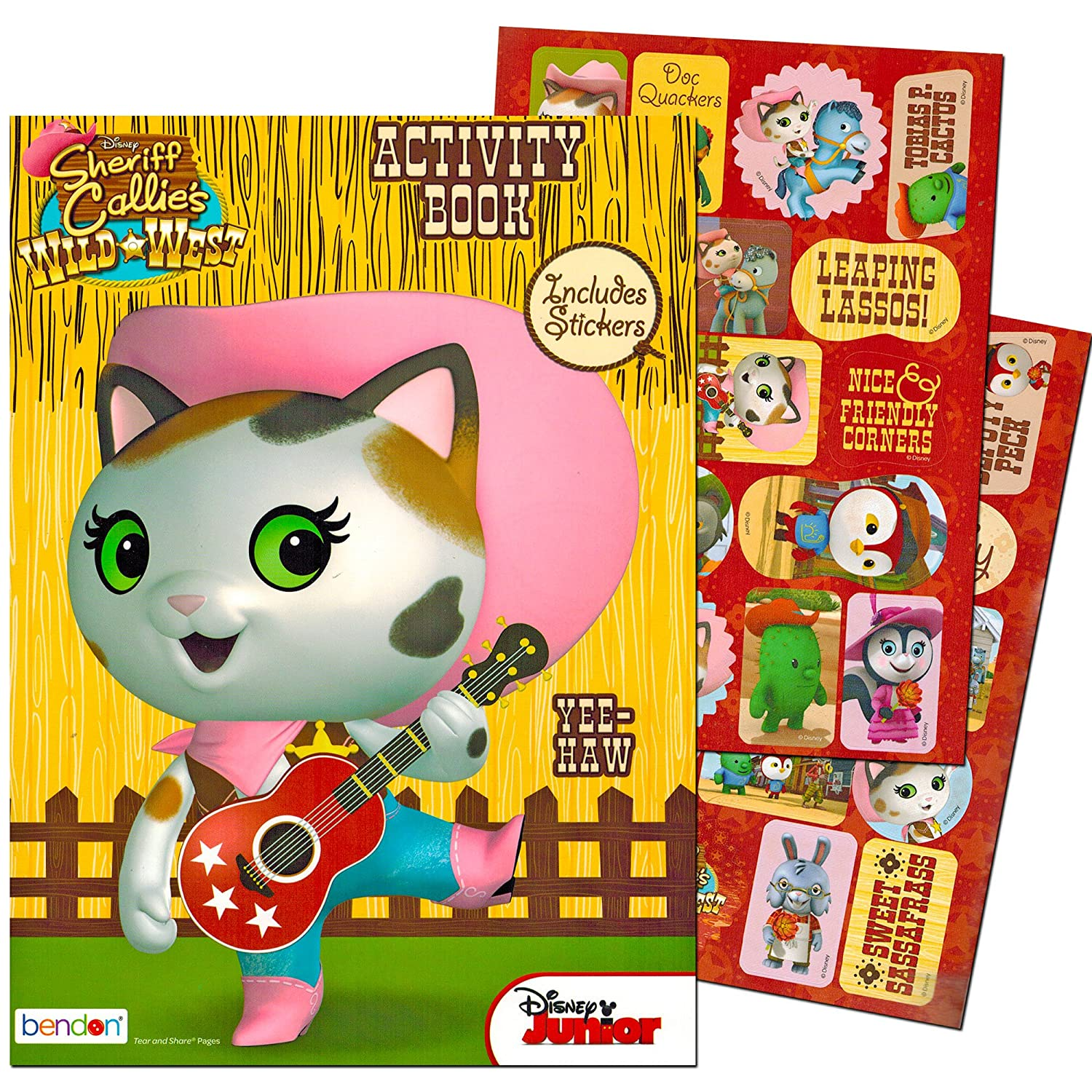 Amazoncom Disney Sheriff Callie Coloring and Activity Book with