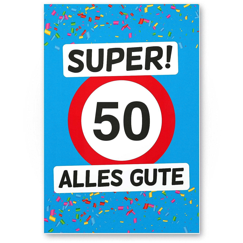 DankeDir!. 50 Alles Gute - Cartel de plástico (Azul), Regalo ...