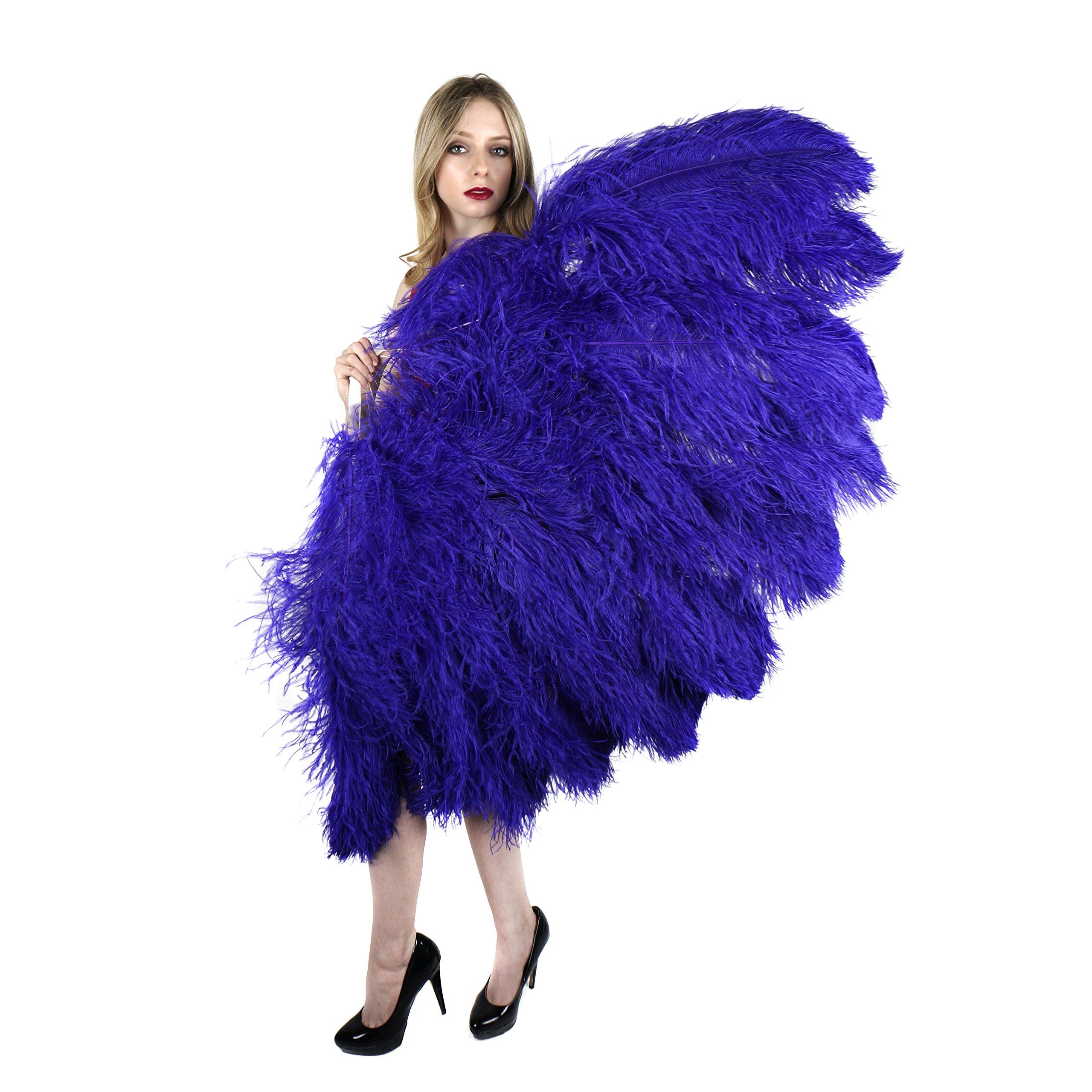 ZUCKER Feather Fan w/Ostrich Femina - Regal by ZUCKERTM