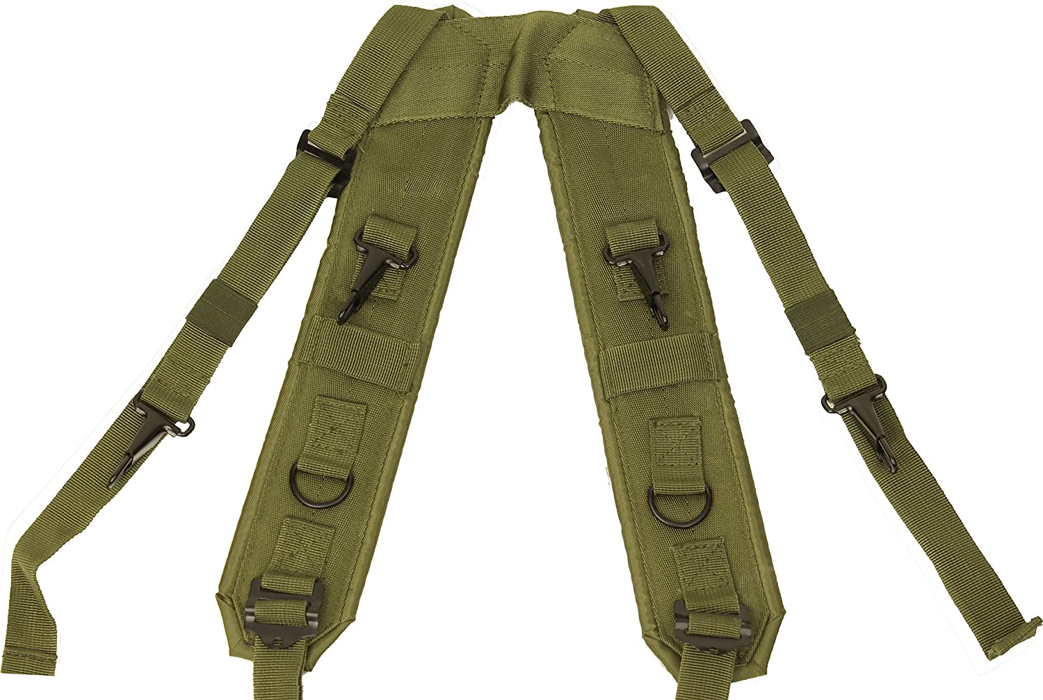 Olive Drab Combat H Style LC-1 Military Suspenders Load Bearing Harness Backpack Straps