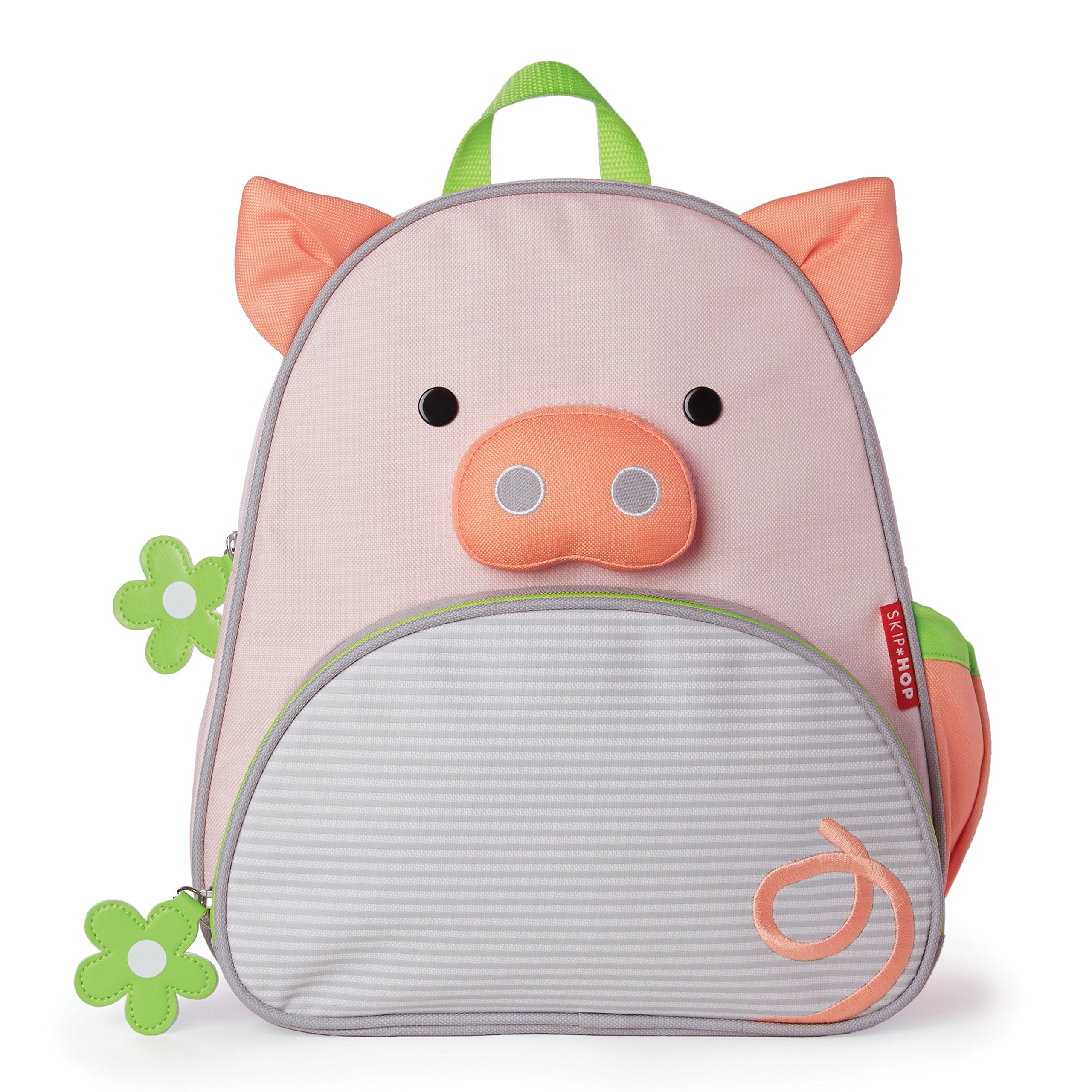 Skip Hop Zoo Insulated Toddler Backpack Pig, Pink, 12''