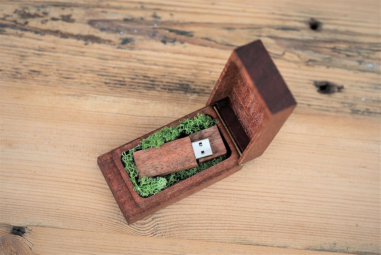 Caja de madera para memoria USB, caja de regalo para personalizar con USB de fotos, para boda, fotografía (8.0 GB): Amazon.es: Informática