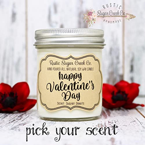 Personalised Yankee Candle Style Label Photo Love Valentines Day Wedding Birthday *CANDLE NOT INCLUDED*