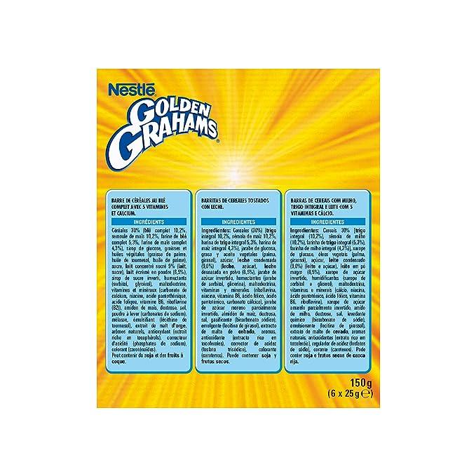 Cereales Nestlé Golden Grahams, Barritas con Maíz y Trigo Tostado, 6 x 25 g, 4 Paquetes: Amazon.es: Alimentación y bebidas