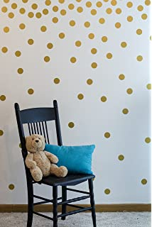 Gold Wall Decal Dots (200 Decals) | Easy To Peel Easy To Stick + Part 76