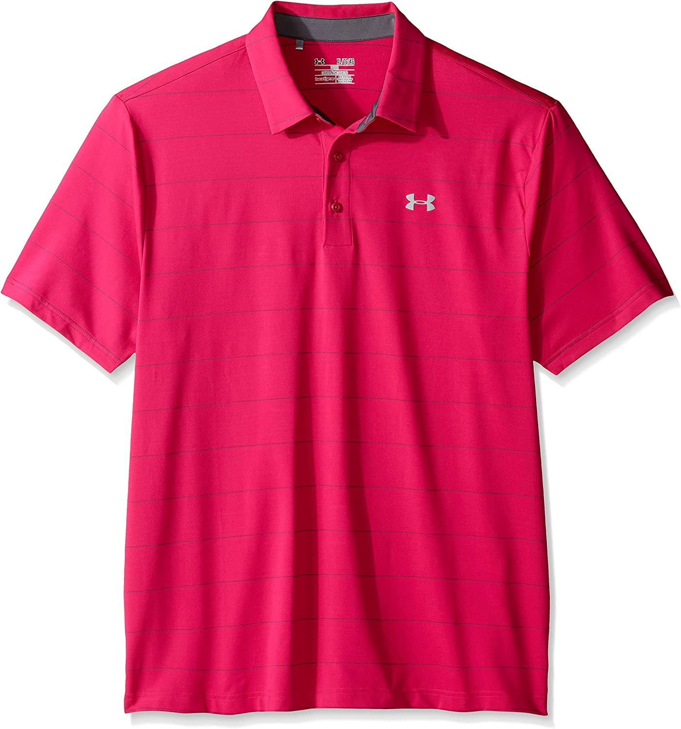 Under Armour Men Ua Playoff Polo-Power in Pink