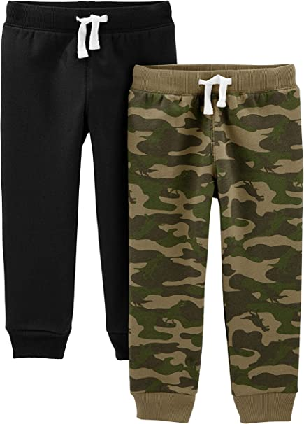 Boys Infant /& Toddler Camouflage Pull-On Elastic Waist Pants-12M to 5T