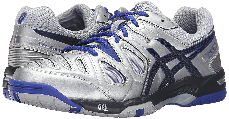 Asics Gel-spill 5 Menns Tennis Sko - Navy / Hvit gQRf6ljI