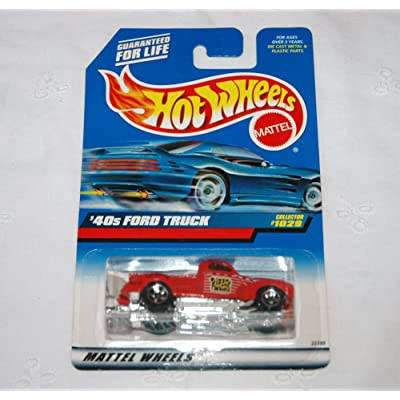 Hot Wheels Mattel 1999 1:64 Scale Red 40's Ford Truck Die Cast Car Collector #1029: Toys & Games