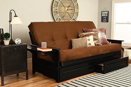 Kodiak Furniture Phoenix Sofa bed, Full, Suede Chocolate