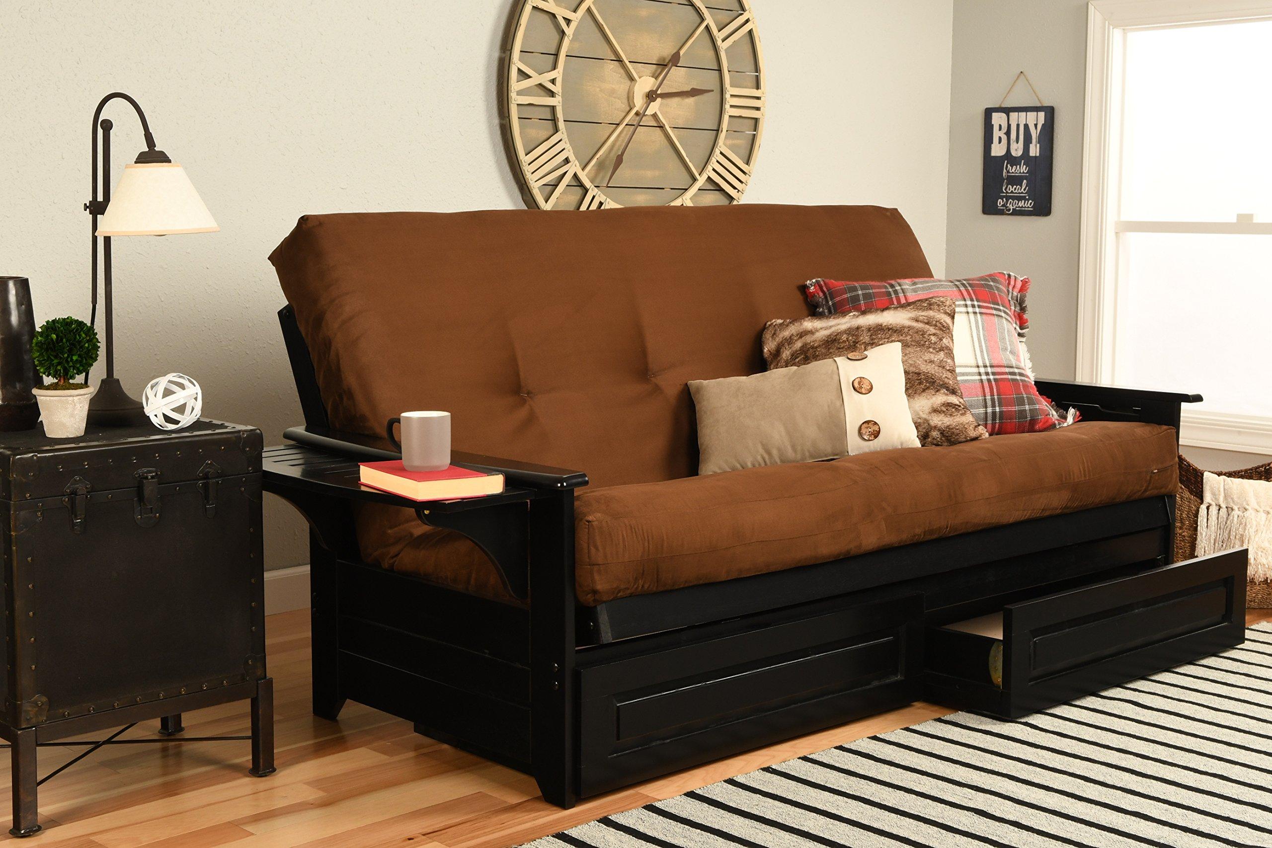 Kodiak Furniture Phoenix Sofa bed, Full, Suede Chocolate by Kodiak Furniture