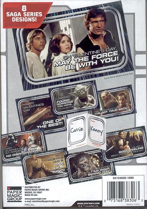 Amazon star wars saga series kids valentines day card amazon star wars saga series kids valentines day card classroom exchange 32 count office products m4hsunfo