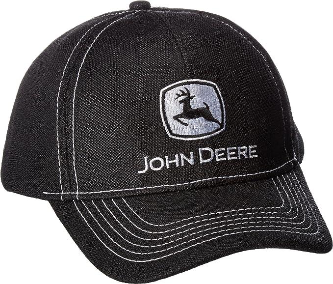 Amazon.com: John Deere Diamond Poly Malla Negro Sombrero de ...