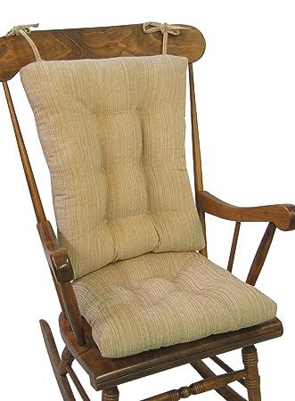 The Gripper Non Slip Polar Jumbo Rocking Chair Cushions Sand