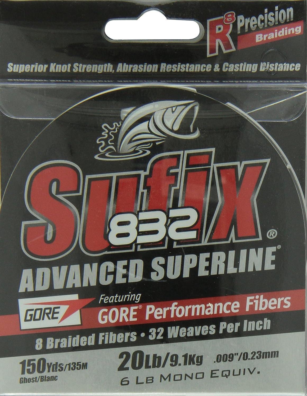Sufix 300 Yard 832 Advanced Superline Braid Fishing Line Ghost