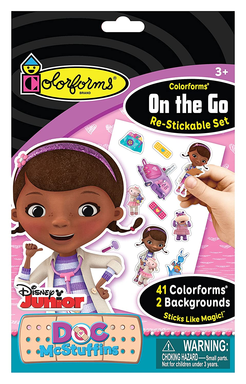 Colorforms Brand Doc McStuffins On The Go Restickable Set