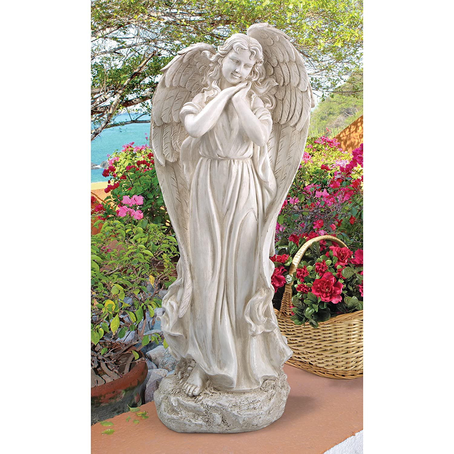 Christmas angel outside decoration statue